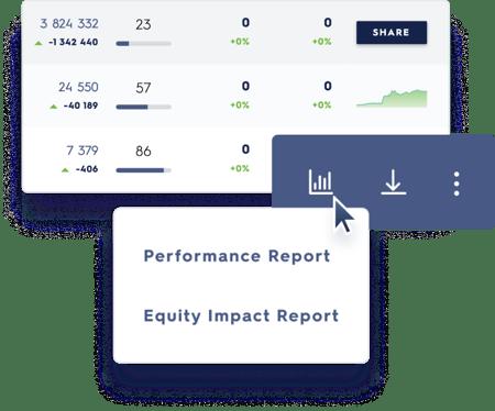 screenshot of data analytics in news direct platform